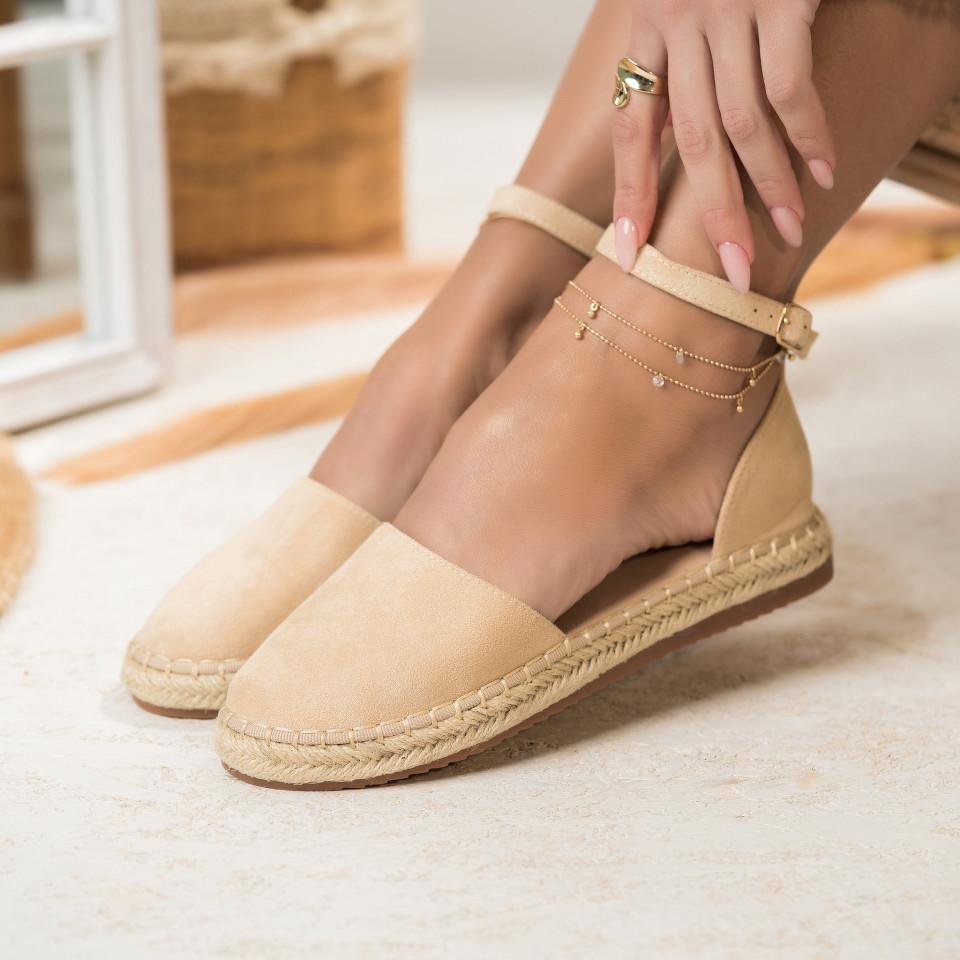 Női spárgatalpú cipők Fordított műbőr Bézs Abigail X2755