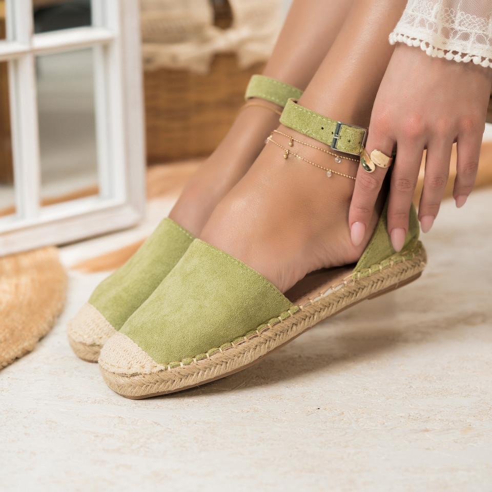 Női spárgatalpú cipők Fordított műbőr Zöld Mia X2748