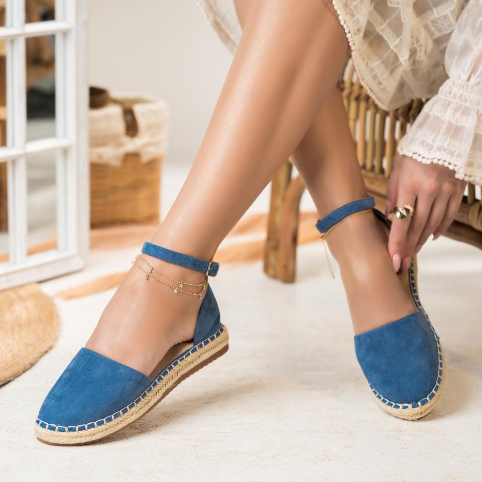 Női spárgatalpú cipők Fordított műbőr Sötétkék Abigail X2756