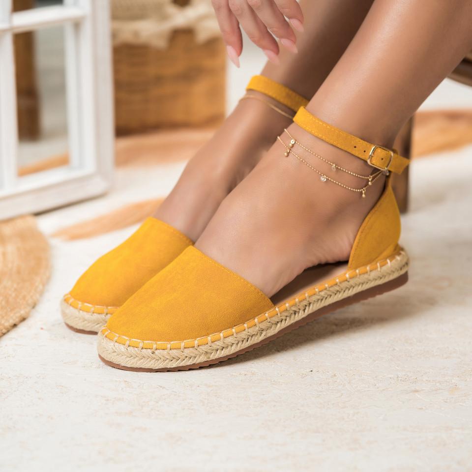 Női spárgatalpú cipők Fordított műbőr Sárga Abigail X2757