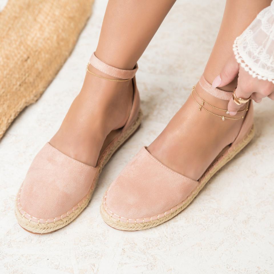 Női spárgatalpú cipők Fordított műbőr Rózsaszín Abigail X2758