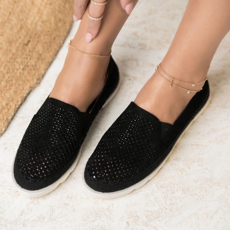 Női spárgatalpú cipők Fordított műbőr Fekete Ava X2742