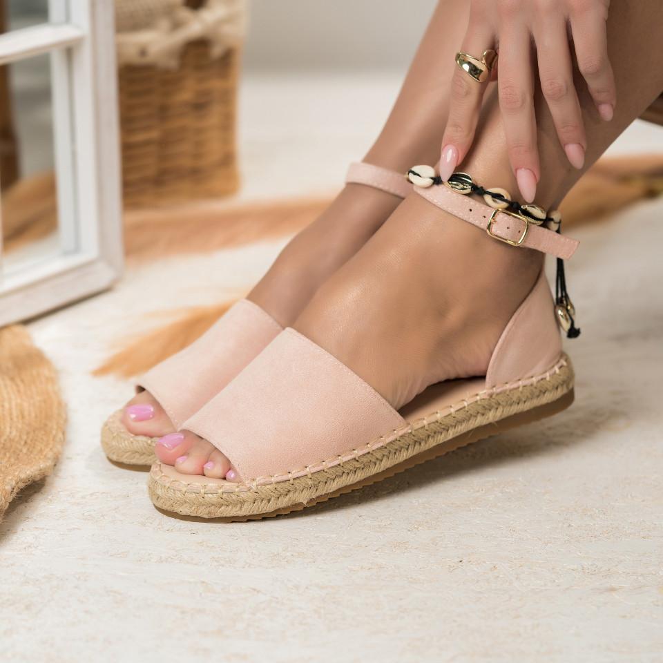 Női spárgatalpú cipők Fordított műbőr Rózsaszín Emily X2762