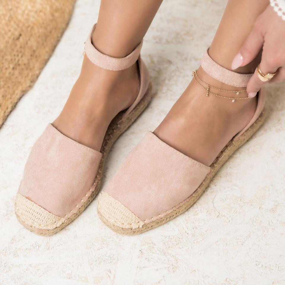 Női spárgatalpú cipők Fordított műbőr Rózsaszín Mia X2751