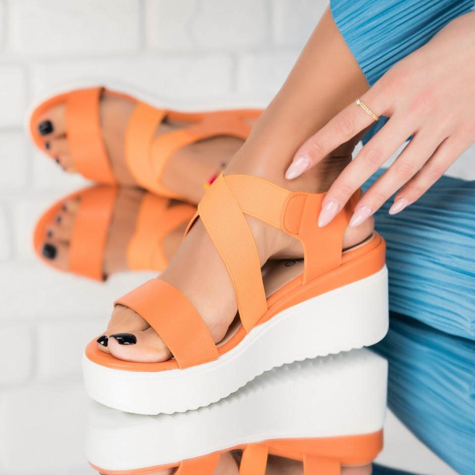 Telitalpú szandálok Ökológiai bőr,Textil Narancs Danielle X3352