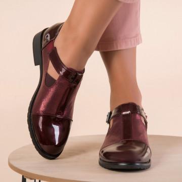 Női félcipő Műbőr lakk Burgundia Alma B9899