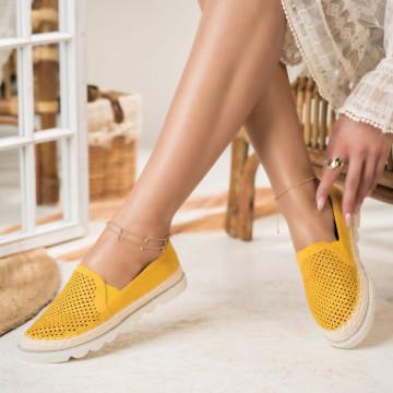 Női spárgatalpú cipők Fordított műbőr Sárga Ava X2743