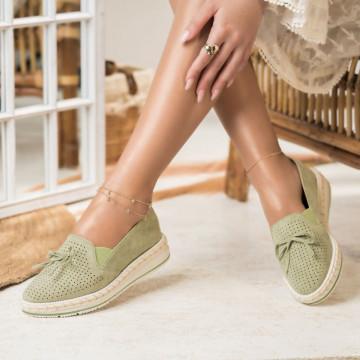 Női spárgatalpú cipők Fordított műbőr Zöld Olivia X2736