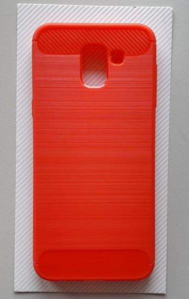 Maska BRUSHED za SM-J600F GALAXY J6 2018, crvena