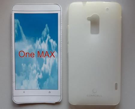 "TPU Pudding maska za HTC One Max (5.9"") 2013, mat bela"