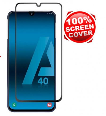 """Zaštitno staklo Tempered Glass za Samsung Galaxy A40 2019 (5.9"""") Glass 5D FULL GLUE, ZAKRIVLJENO crni rubovi"""