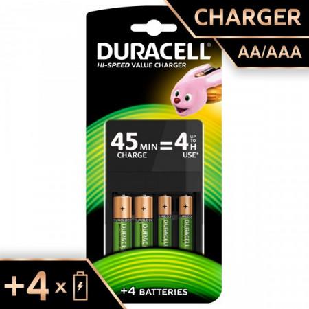 Duracell CEF14 punjač baterija plus dve baterije AA plus dve baterije AAA