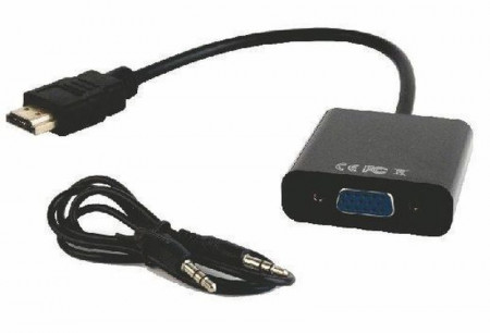 HDMI na VGA adapter + audio Gembird A-HDMI-VGA-06