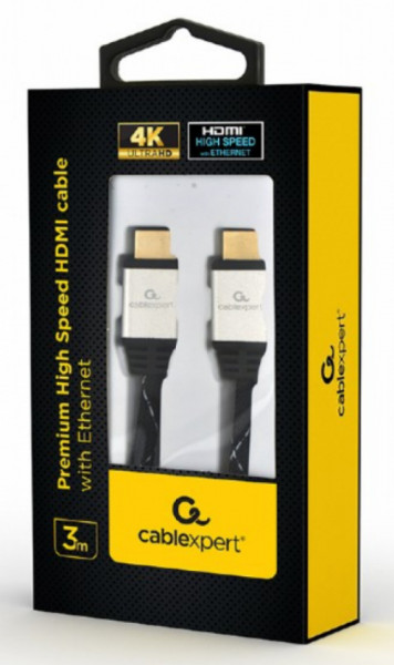 Premium High Speed HDMI cable with Ethernet, 3D/4K TV, Gembird CCBP-HDMI-3M, dužina 3m