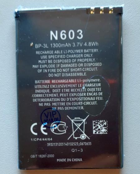 Baterija NOKIA BP-3L, MP-S-V za Nokia Lumia 610, Lumia 710,  Lumia 510, Lumia 505