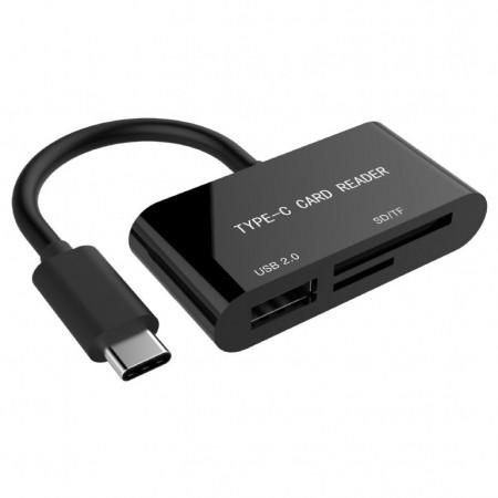 Čitač SD memorijskih kartica USB Type-C Gembird UHB-CR3-02