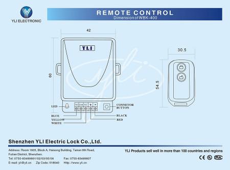 Daljinski upravljač YLI WBK-400A za bežičnu kontrolu pristupa YLI WBK400-2-12