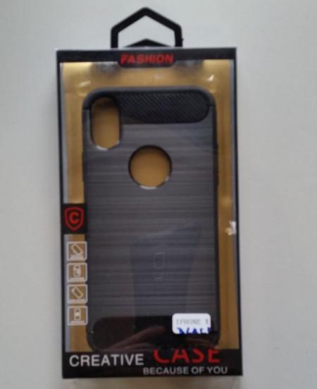 """TPU maska BRUSHED za IPHONE X 5.8""""   black"""