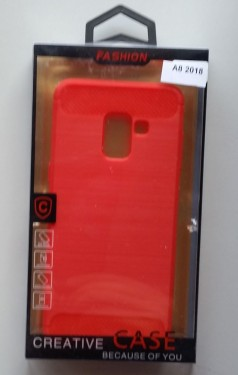 TPU maska BRUSHED za SM-A530F GALAXY A8 2018 RED
