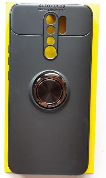 """TPU maska MAGNET RING za Xiaomi Redmi 9 2020 (6.53"""") crna"""