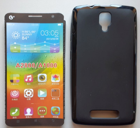"TPU maska Pudding za Lenovo A1000 2014 (4.0"") CRNA"
