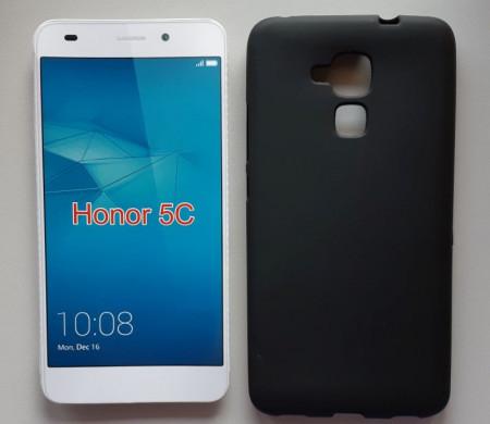"""TPU Pudding maska za Huawei Honor 5C, Honor 7 Lite (5.2"""") 2016, crna"""