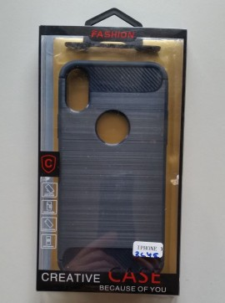 """TPU maska BRUSHED za IPHONE X 5.8""""   dark blue"""