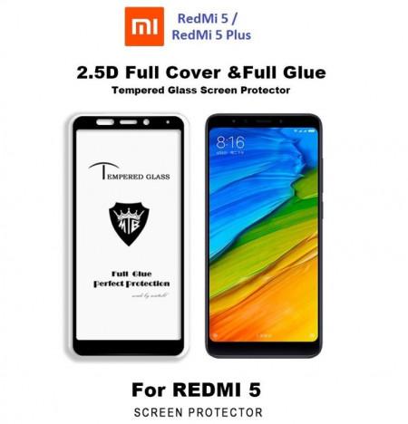 Zaštitno kaljeno staklo 5D Full Glue za Xiaomi Redmi Note 5, Redmi 5 Plus  (5 99