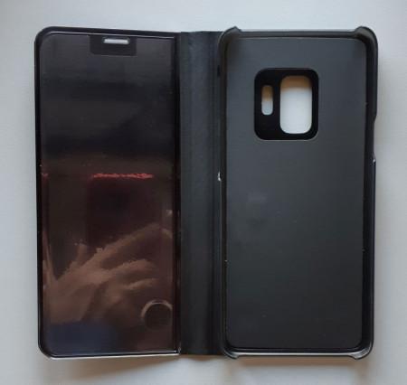 Futrola Flip Clear View ZA SM-G960F, Galaxy S9, Crna
