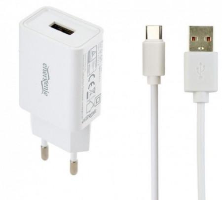 Punjač za telefone i tablete Gembird EG-UCSET-C-MX, 5V/2.1A USB Type-C USB kabl 1M black/white