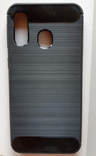 """TPU maska BRUSHED za Samsung SM-A405F Galaxy A40 2019 (5.9"""") crna"""