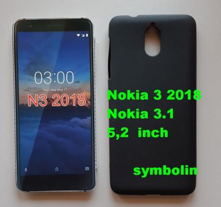 TPU Pudding maska za Nokia 3.1 NOKIA 3 2018, 5.2 inč Crna