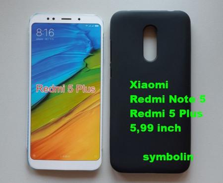 TPU Pudding maska za Xiaomi Redmi Note 5, Redmi 5 Plus, crna
