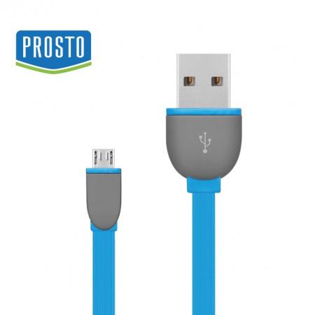 USB kabl za punjenje baterija u telefonima A-micro B 1m PROSTO USBK-F/BL  plavi