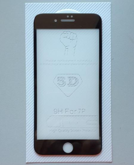 "Zaštitno Kaljeno staklo za iPhone 7 Plus, iPhone 8 Plus (5.5 "") 2017 Glass 5D FULL GLUE, ZAKRIVLJENO crni rubovi"