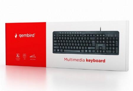 Žična USB tastatura Gembird KB-UM-106, 104 tastera, US raspored, crna