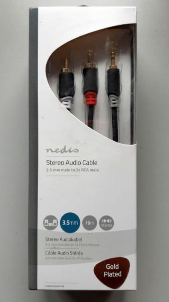 Audio Kabl HIFI RJA 3.5mm (muški) na 2 x RCA (muški) CABW22200AT20 - dužina 2m