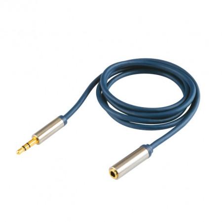 Audio kabl produžni RJA 3,5mm muški na RJA 3,5mm ženski A54-2.5M, pozlaćeni, dužina 2,5m