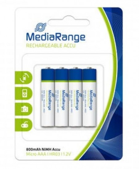 Punjive baterije AAA HR03 NIMH 800MAH MEDIARANGE MRBAT120/PRC