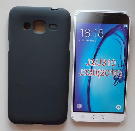 TPU maska PUDDING za SM-J320F Galaxy J3 2016, crna