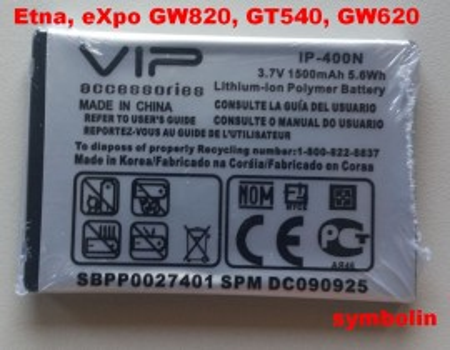 Baterija LGIP-400N za LG Etna, eXpo GW820, GT540, GW620