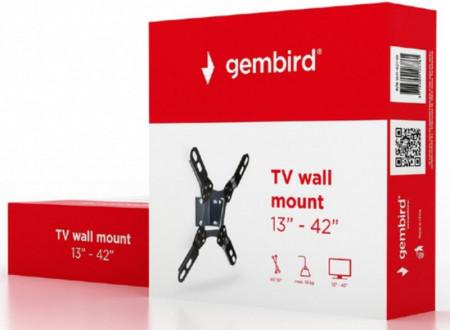 "Nosač TV fiksni, tilt 13 - 42"" Gembird WM-42T-01, VESA 200 x 200 max, nosivost do 10kg"