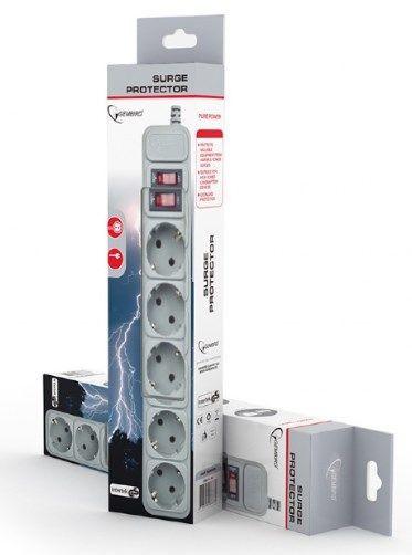 Produžni kabl sa zaštitom 6 uticnica (3x1.5mm) 3m, GREY Gembird SPG6-B-10C *