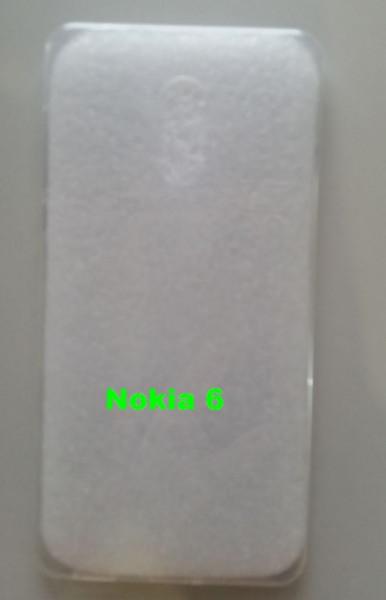 Silikonska maska leđa Nokia 6 providna
