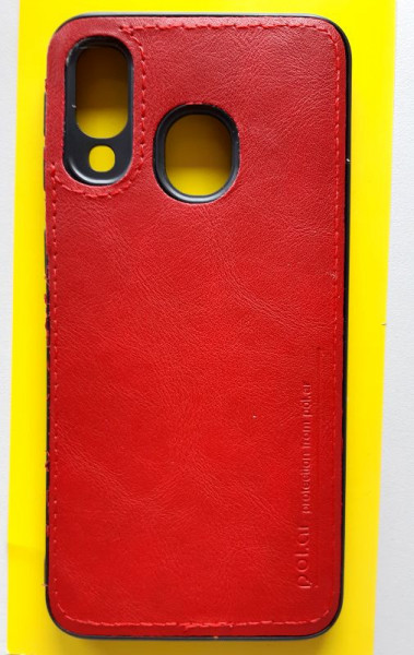 "TPU LEATHER maska za Samsung SM-A405F Galaxy A40 2019 (5.9"") crvena"