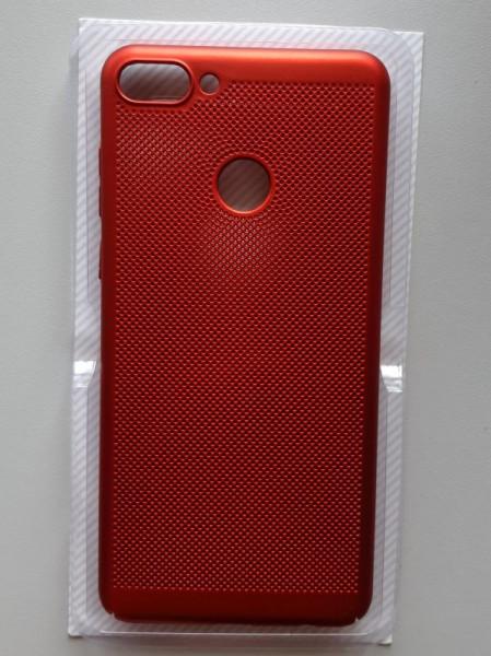 TPU/PC BREATH maska za Huawei Y9 2018, crvena