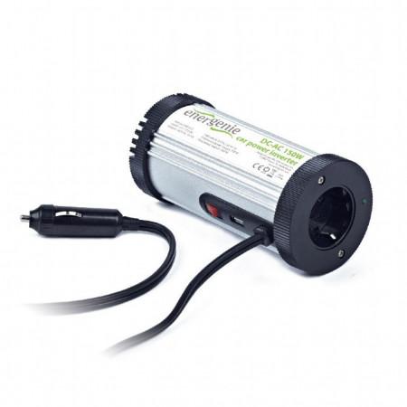 Auto inverter 12VDC na 220VAC, 150W+USB port, Car power inverter Gembird EG-PWC-031