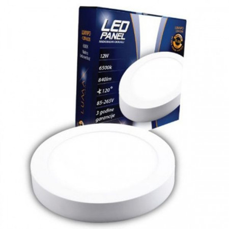 LED panel nadgradni OKRUGLI 12W LUMNPO-12W, 3000K ili 6500K