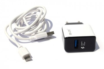 Slika Punjač TD-LTE FT22 USB 2100 MA plus Type-C USB Data Cable, 2100mA