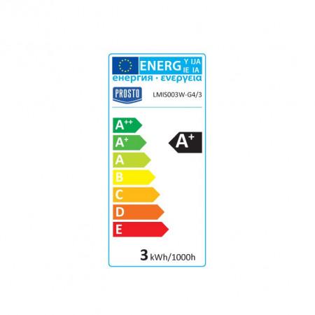 Sijalica LED grlo G4 PROSTO 12V, 3W 450 lm 3200K ili 5000K